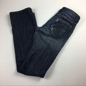Level 99 Distressed Boot Cut Jeans